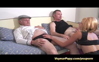 papy and boy-friend fuck same whore