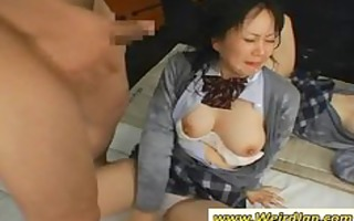 hawt oriental schoolgirls acquires mouths screwed