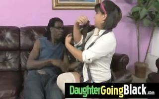 hawt daughter knob engulf and interracial fuck 1