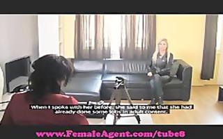 femaleagent. alluring blonde bombshell