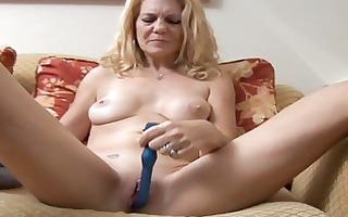 older playgirl has a pierced twat