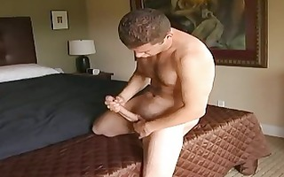 homo hunk sucks on his own prick