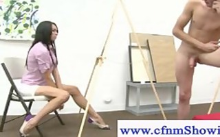 cfnm girls drawing undressed jerking off chap and