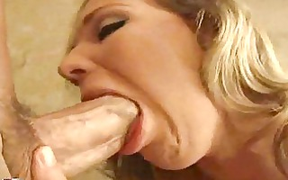 older whore with jock engulfing lips squeezes