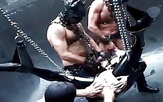 servitude slave in dark latex