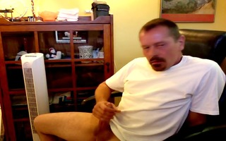 sexy dad jerking