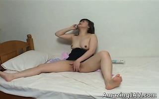 slutty japanese girl masturbating