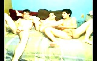 twinks threesome pleasure