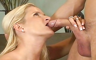golden-haired milfs ball licking oral pleasure act