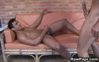 latino homosexual jacking off and cummin clips