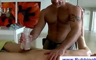 massage with a fleshlight
