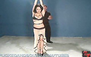 bound up tramp receives screwed and punished