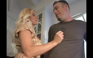 blond aged playgirl bangs a younger guy