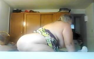 breasty older gf bonks cowgirl style