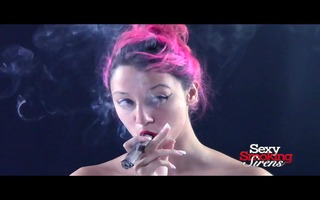 smokin fetish - nadia upclose cigar