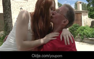 large dicked old stud bonks his horny young