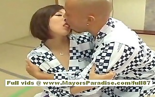 japanese model shows off her ideal milk sacks and