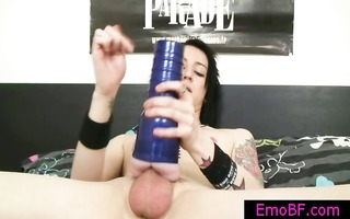 gay emo busting his nuts with a fleshlight part6