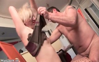 naughty golden-haired slut gets lascivious
