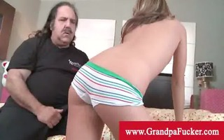grand-dad jeremy eats young pussy