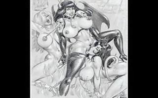 massive breast large tit thraldom art