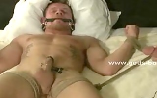 leather clothed homosexual drubbing sex villein