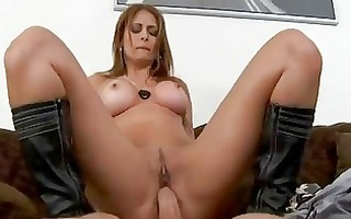 aged latin babe acquires screwed by a giant rod