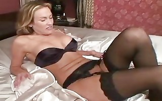 older in nylons toys her snatch