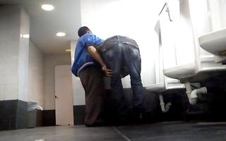 daddy in the public bathroom