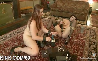 breasty gal and servant abased and drilled