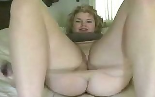milf with diminutive fake penis in her