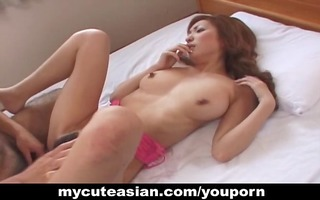 nice-looking asian wench getting drilled hard