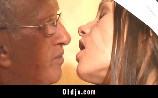 old dude pumps in booty a youthful lewd cleaning
