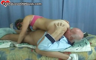 sexually excited older man acquires to fuck a cute