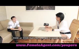 femaleagent. milf casts young, nervous dude