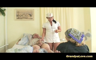 old man chick fucking a precious dark brown nurse