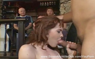 redhead wife acquires screwed, ok with hubby!