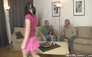 she is rides his old wang after oral stimulation