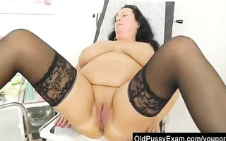adult toy in snatch during a wife gyno
