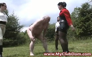 ballbusted perverted grand-dad