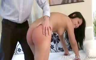 stripping playgirl being arse spanked