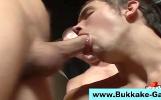 cum shower for twink engulfing dongs