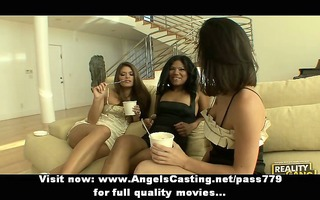 lesbian some with dark brown angels undressing