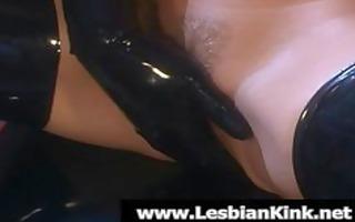 lesbians in rubber fingering moist snatches