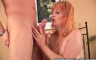 granny with big mambos sucks knob and acquires