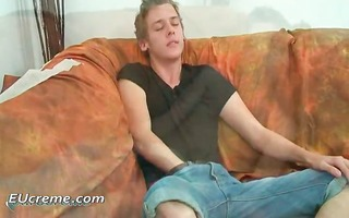 fascinating twink strokes his own dick part9
