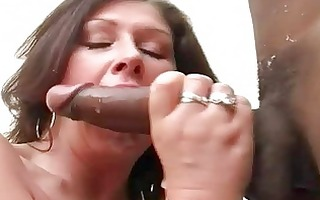 large breasted bitch wife bonks darksome hunk in
