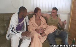granny takes 1 big jocks