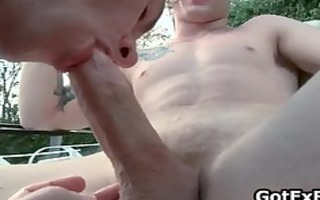 homo groupsex by the swimmingpool part1