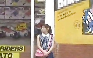 japanese gal oral stimulation for cash in public